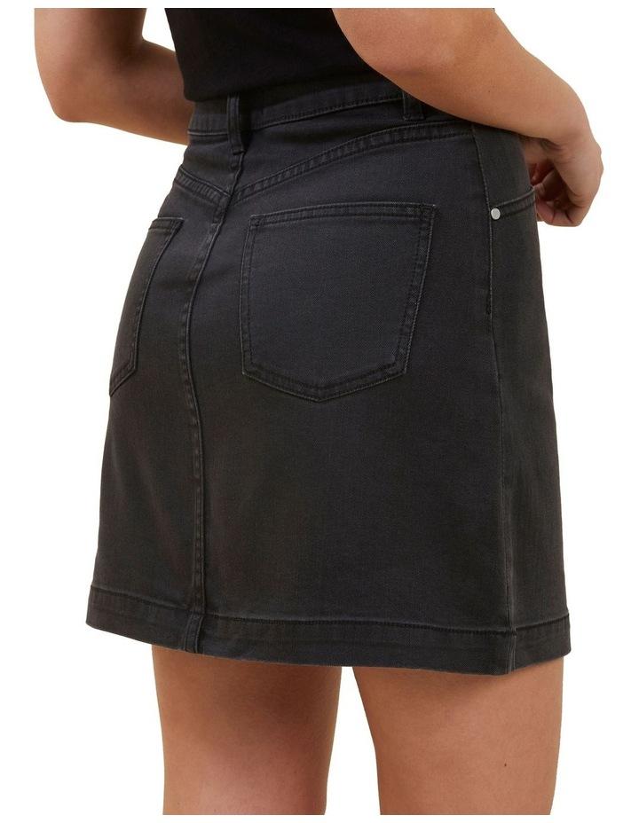 Core Denim A Line Mini Skirt image 3