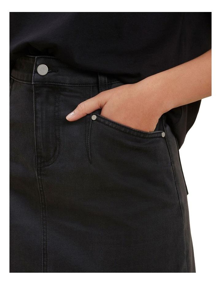 Core Denim A Line Mini Skirt image 4