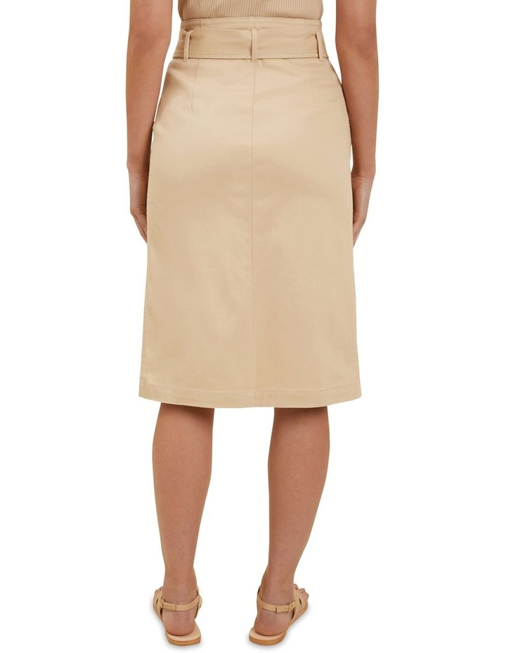 Cotton Belted Midi Skirt image 3