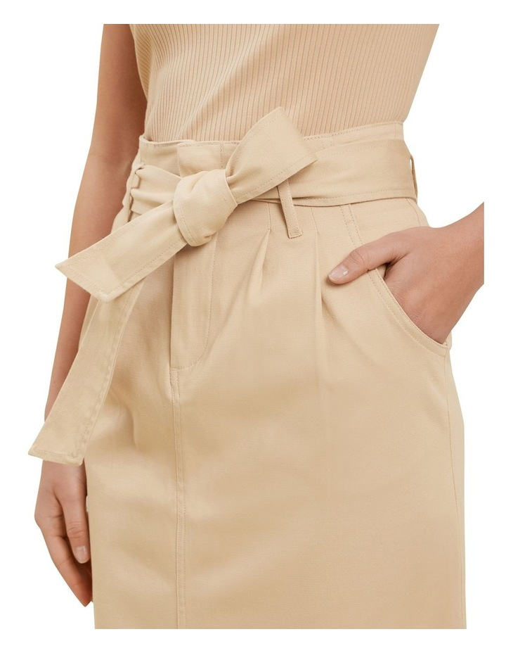 Cotton Belted Midi Skirt image 4