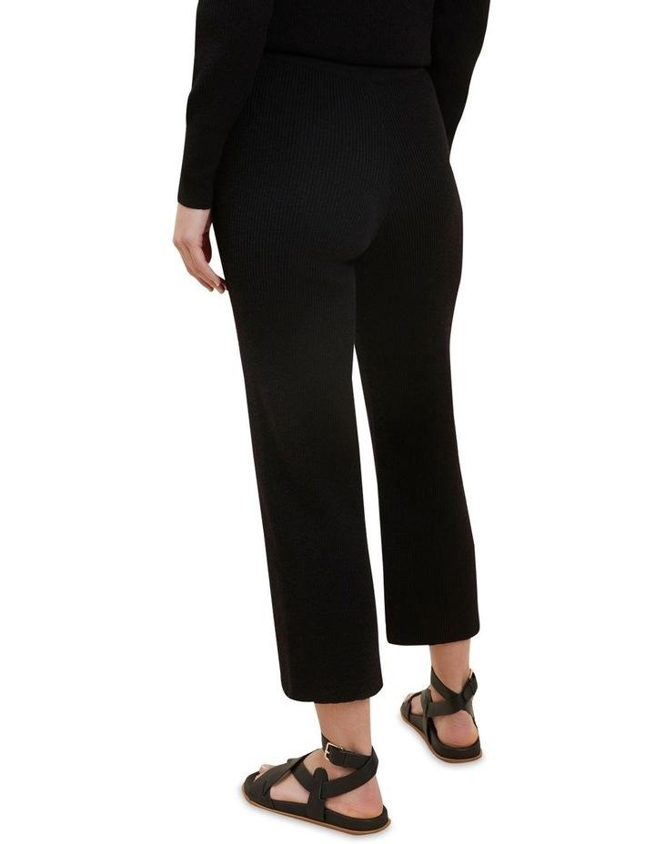 Boucle Knit Wide Leg Pants image 3