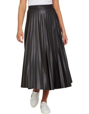 054dc293e9 French ConnectionLeather Look Pleated Skirt. French Connection Leather Look Pleated  Skirt