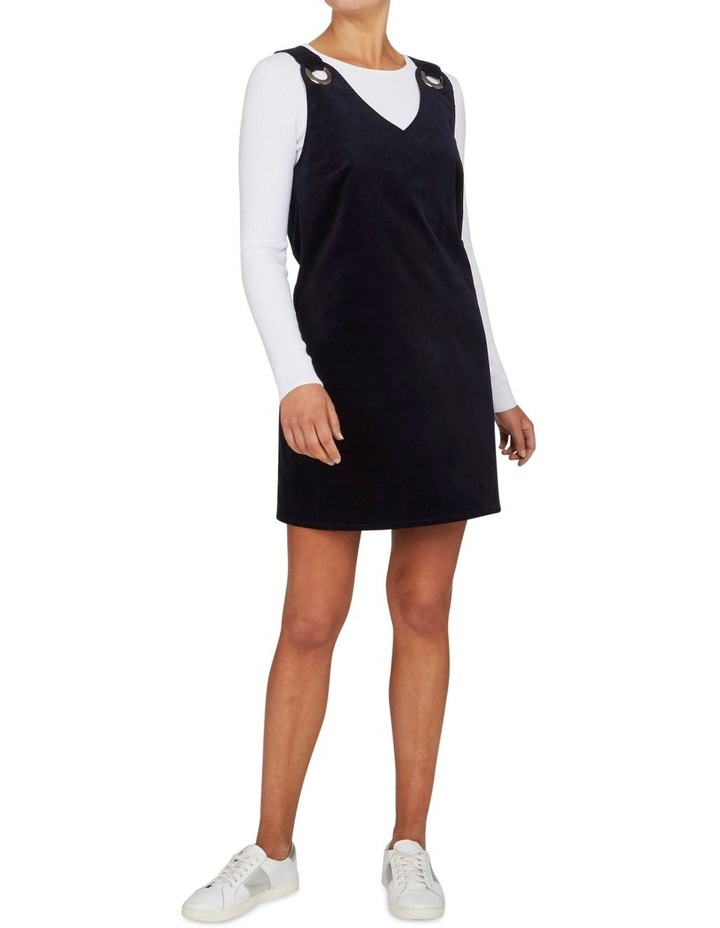 Cord Pinafore Shift Dress image 1
