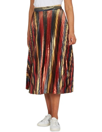 aeb612883c7eef French ConnectionRainbow Stripe Pleated Skirt. French Connection Rainbow  Stripe Pleated Skirt