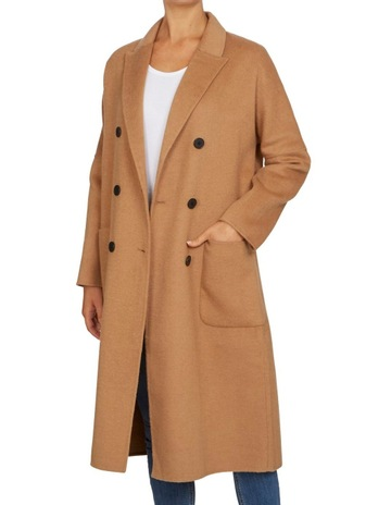 1bb301903a French ConnectionDouble Breasted Longline Coat. French Connection Double  Breasted Longline Coat