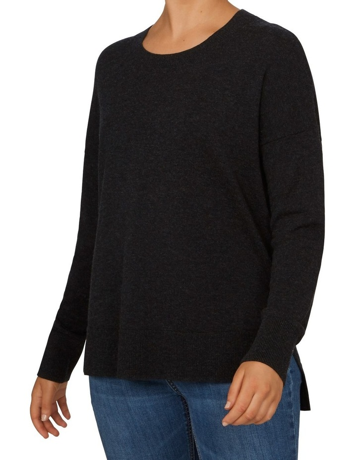 Charcoal Crew Neck Knit image 1