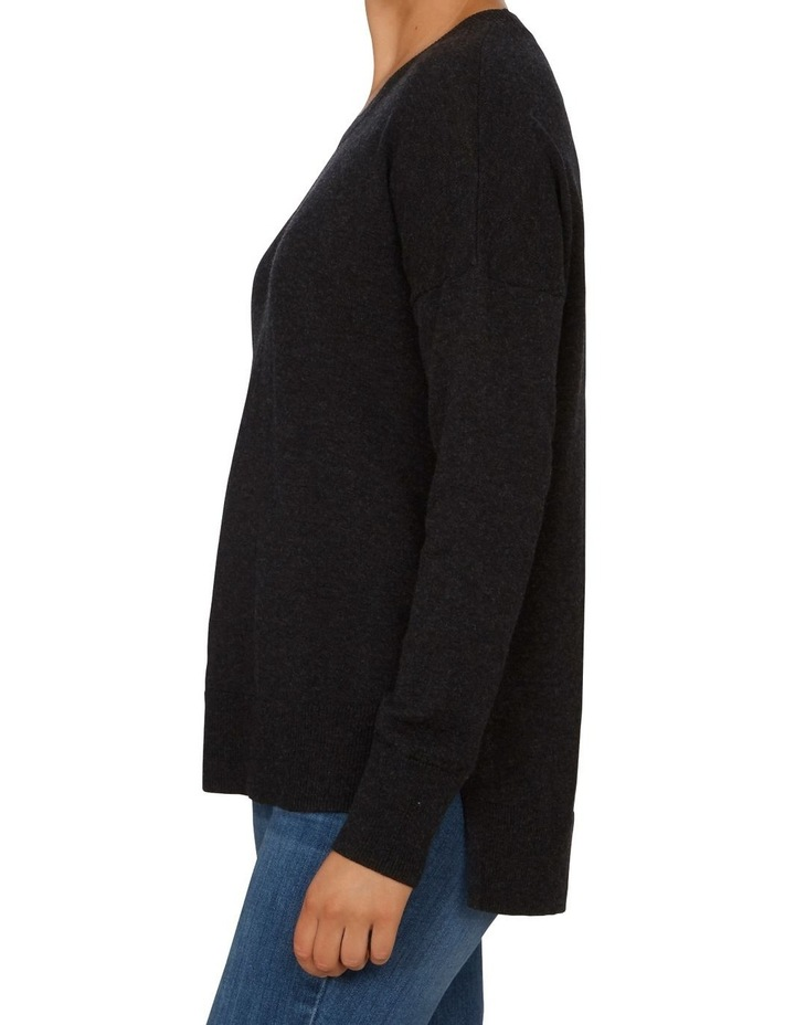 Charcoal Crew Neck Knit image 2