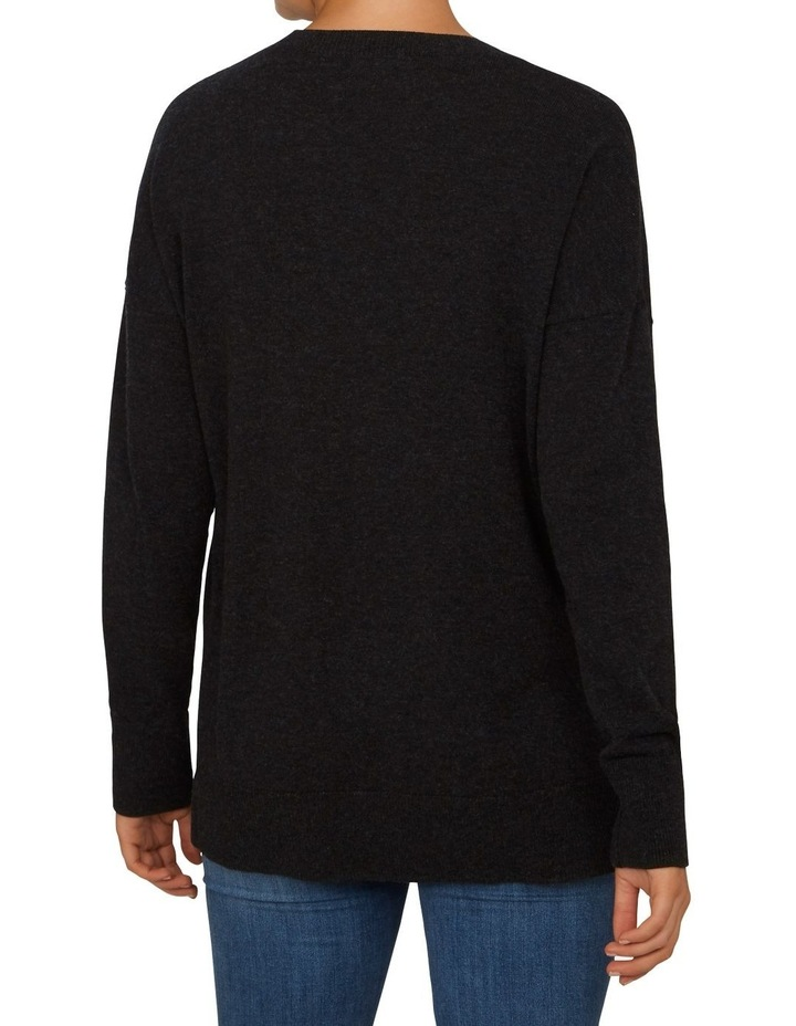 Charcoal Crew Neck Knit image 3