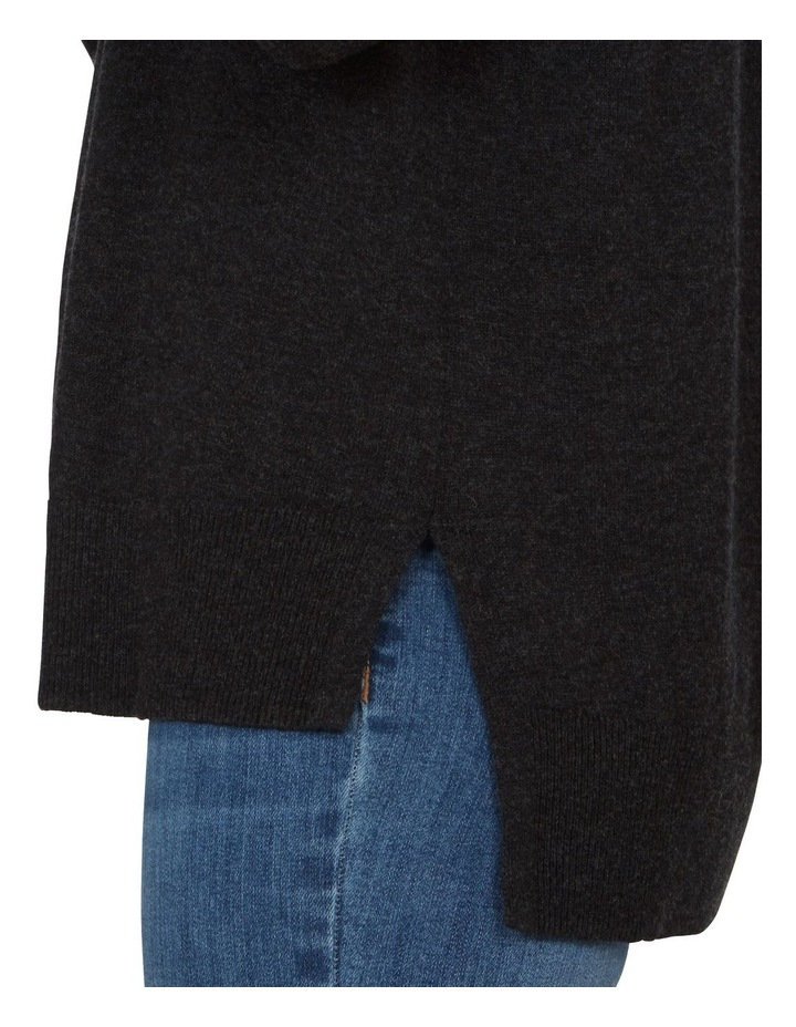 Charcoal Crew Neck Knit image 4