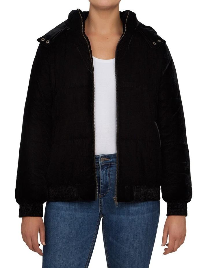 Velvet Puffer Jacket image 1