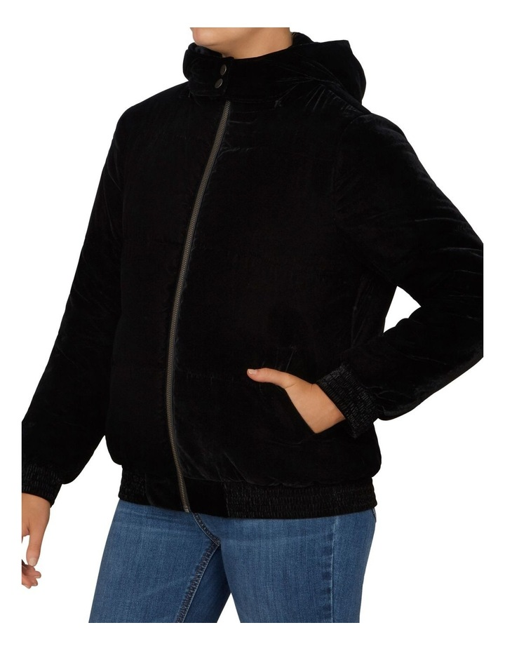 Velvet Puffer Jacket image 2
