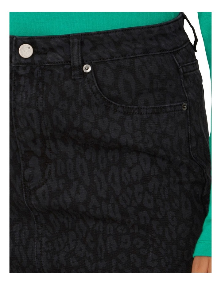 Animal Print Denim Skirt image 4