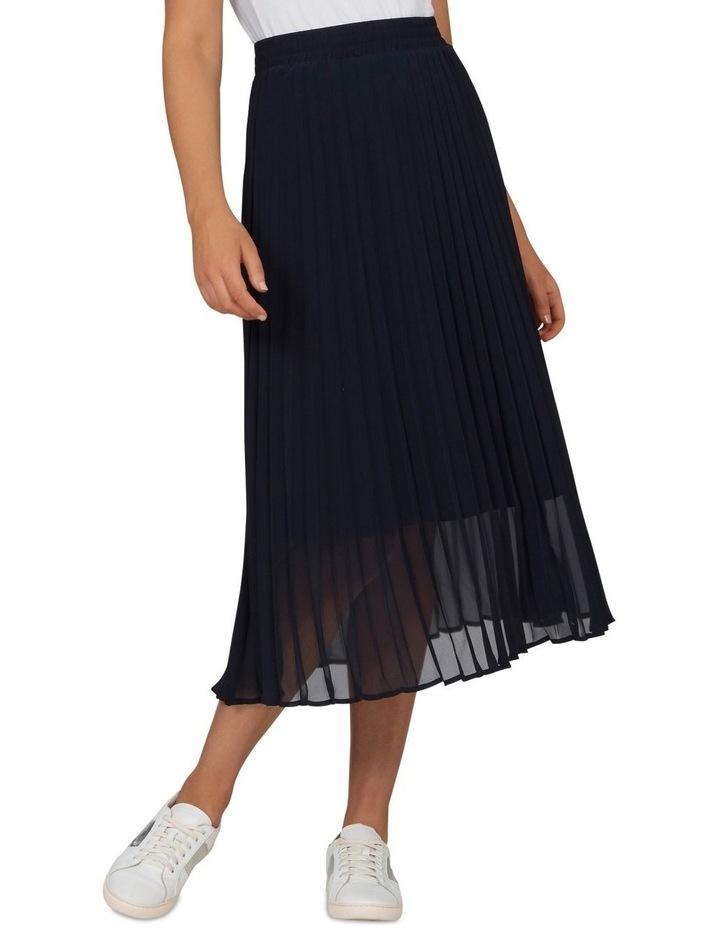 Navy Pleat Skirt image 1