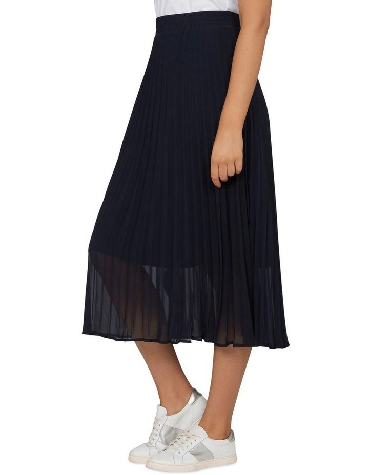 Navy Pleat Skirt image 2