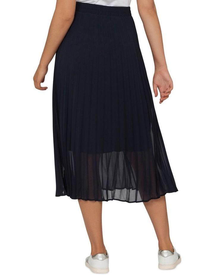Navy Pleat Skirt image 3
