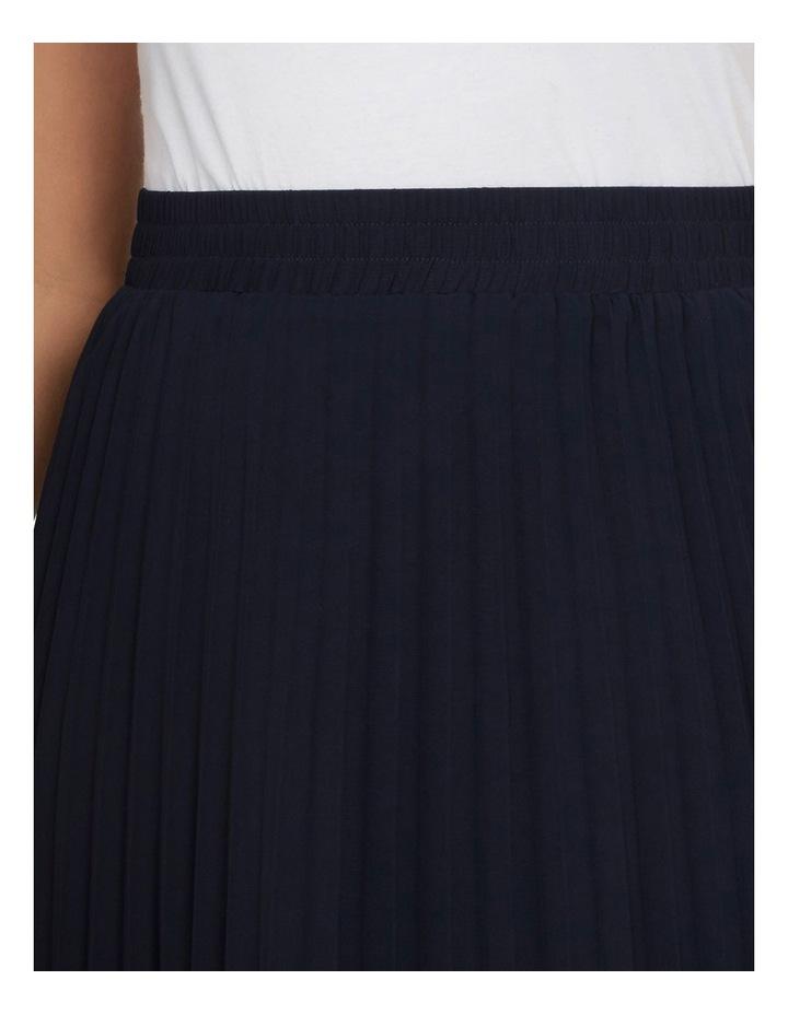 Navy Pleat Skirt image 4