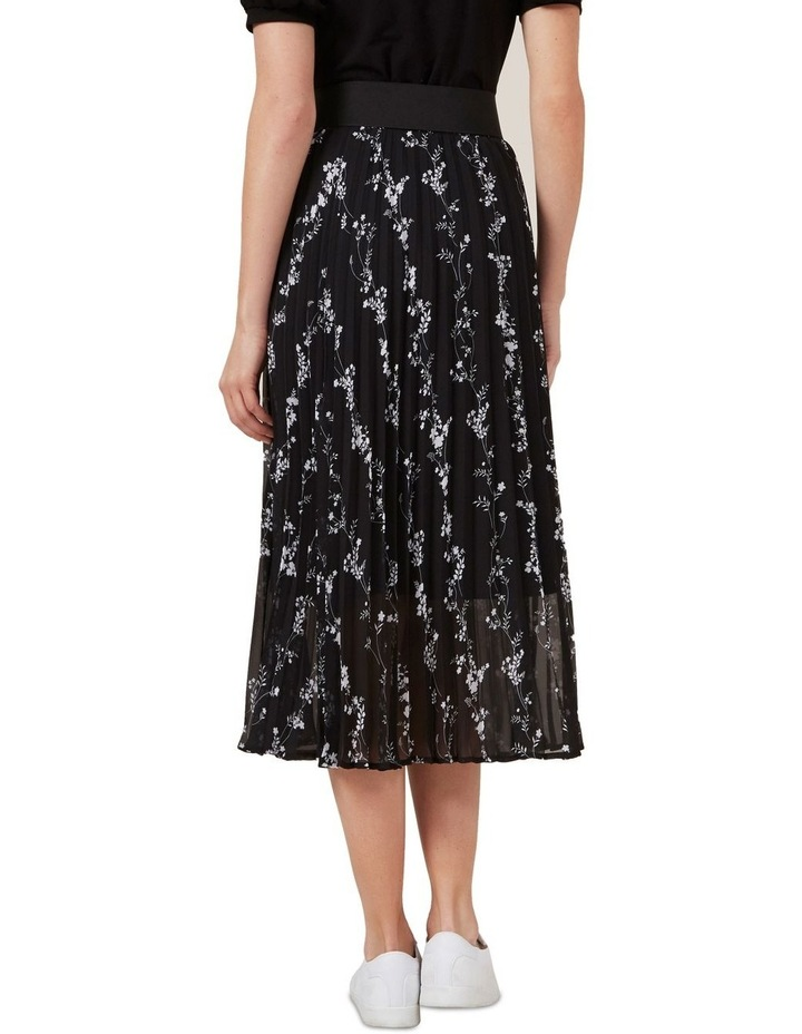 Monochrome Floral Pleat Skirt image 3