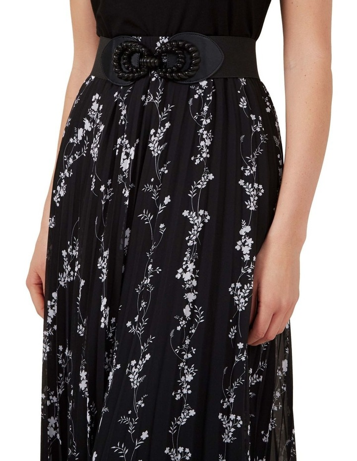 Monochrome Floral Pleat Skirt image 4