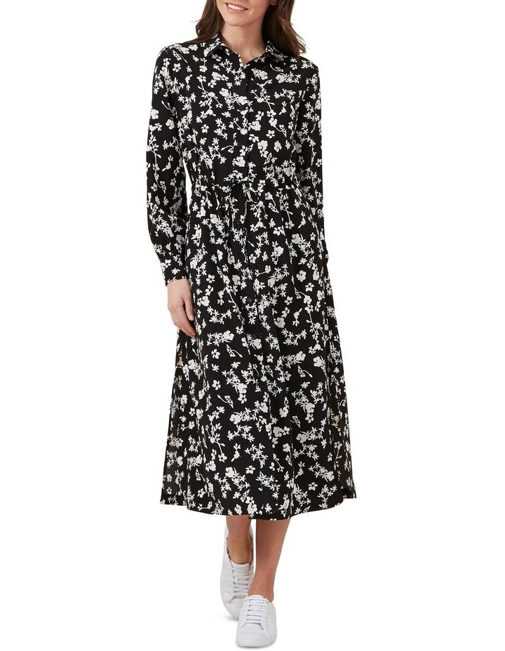 Floral Shirt Maxi Dress image 1