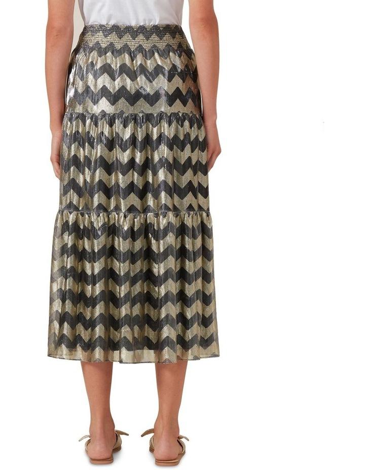 Chevron Metallic Midi Skirt image 3
