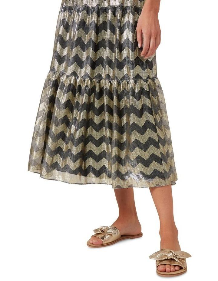 Chevron Metallic Midi Skirt image 4