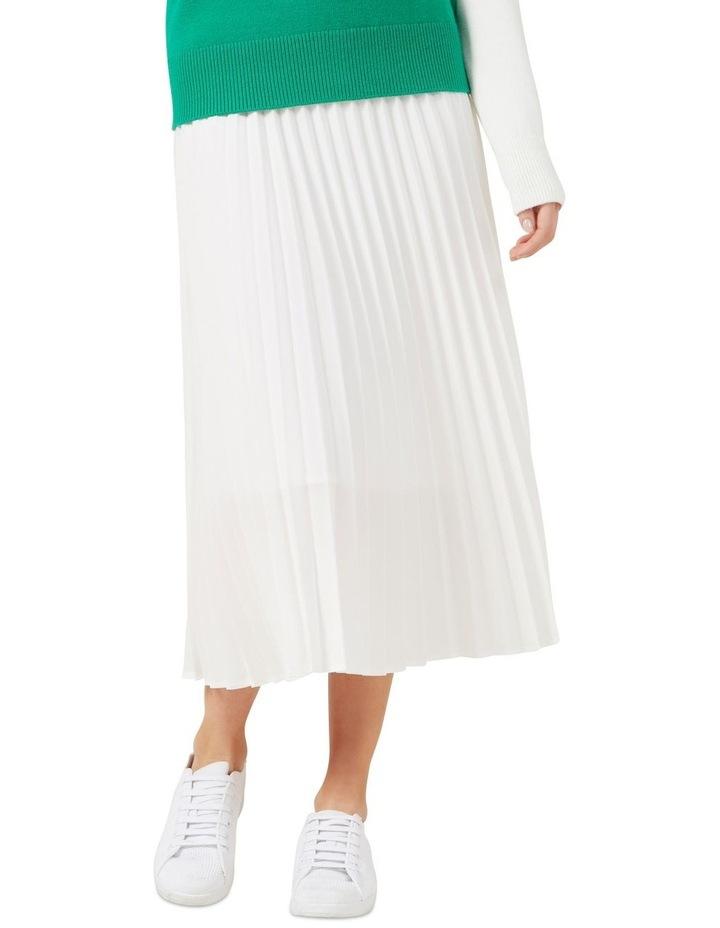 White Pleated Skirt image 1