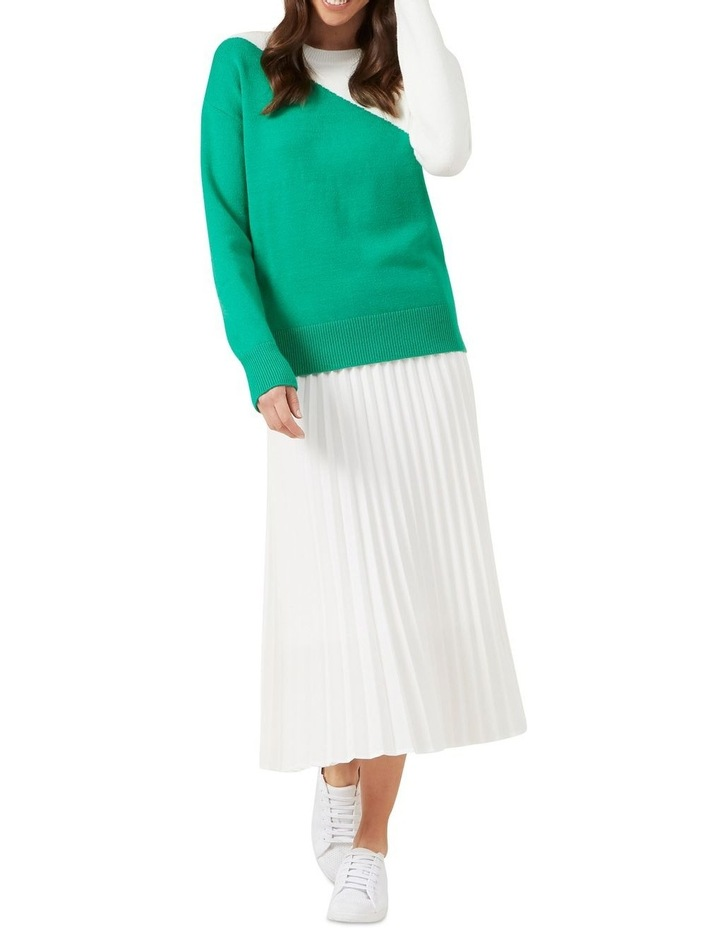 White Pleated Skirt image 2
