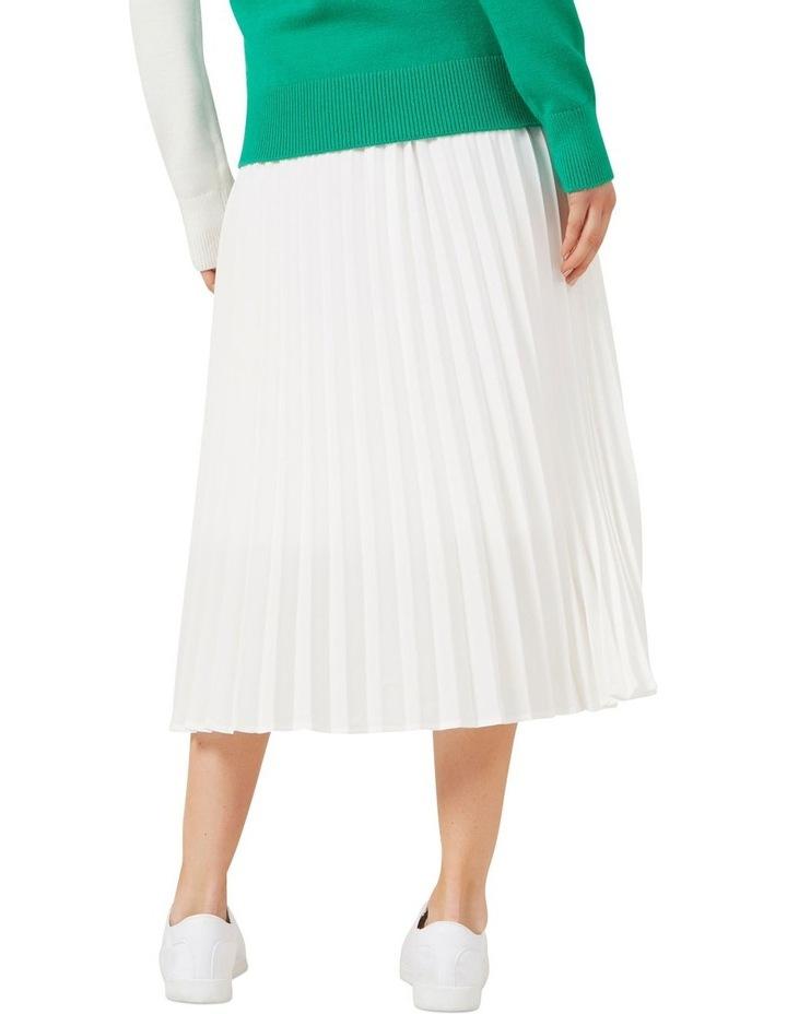 White Pleated Skirt image 3