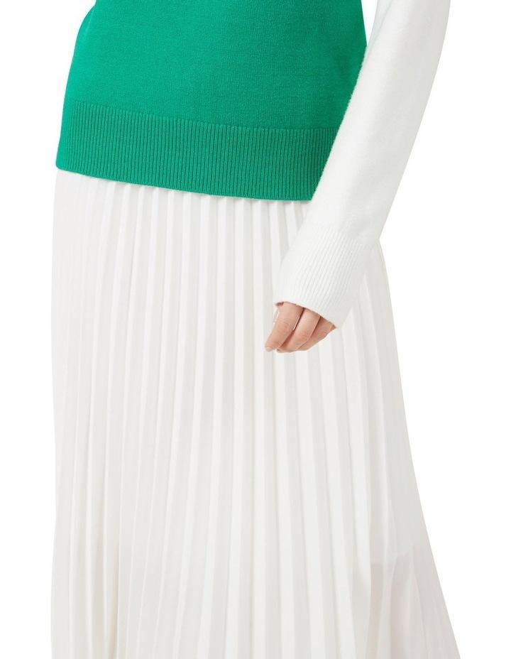 White Pleated Skirt image 4