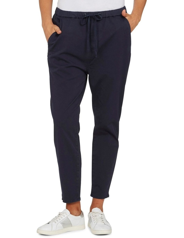 Pull On Stretch Cotton Pant image 1