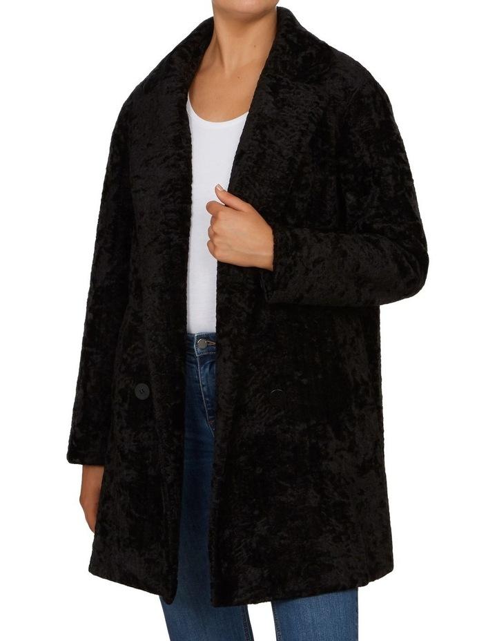 Textured Faux Fur Coat image 1