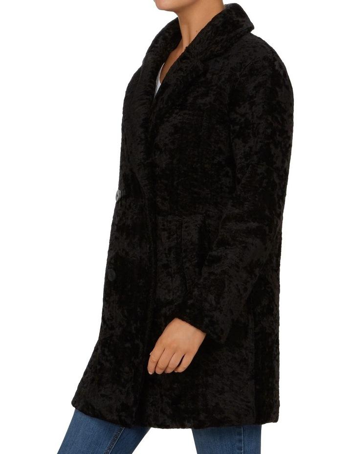 Textured Faux Fur Coat image 2