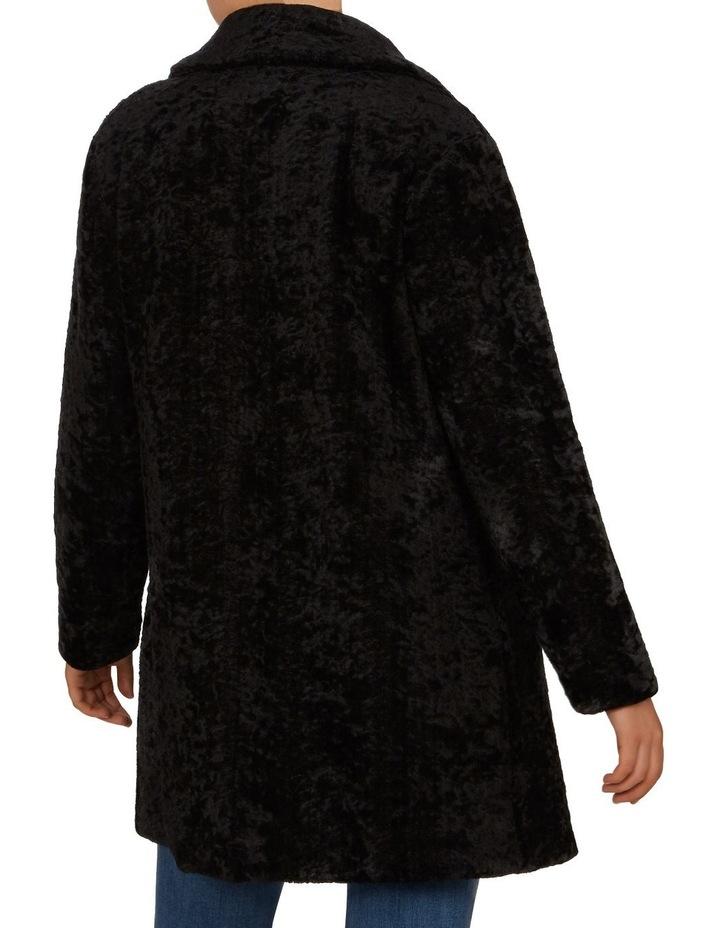 Textured Faux Fur Coat image 3