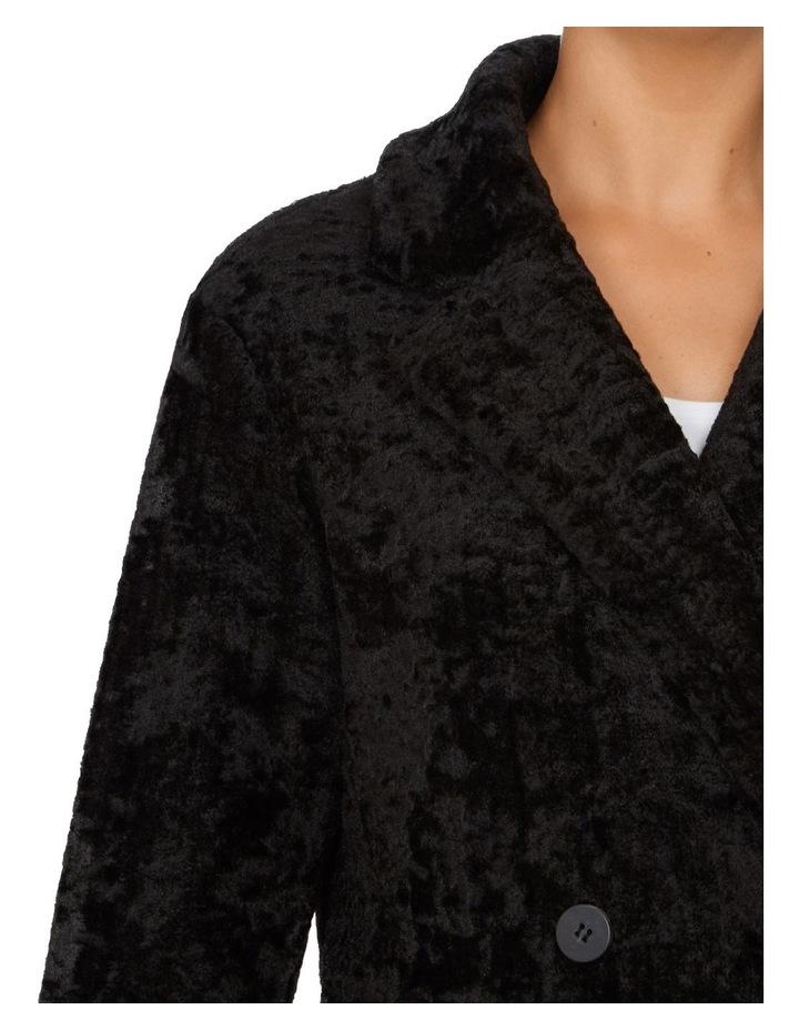 Textured Faux Fur Coat image 4