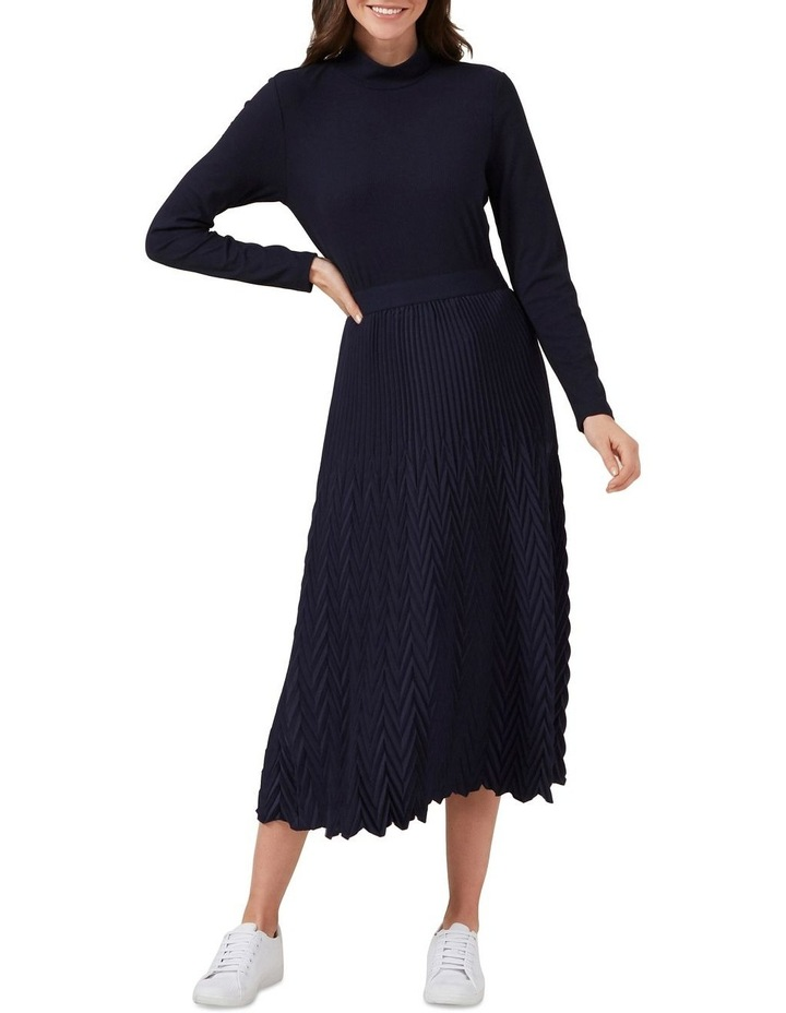 Chevron Pleated Skirt image 2