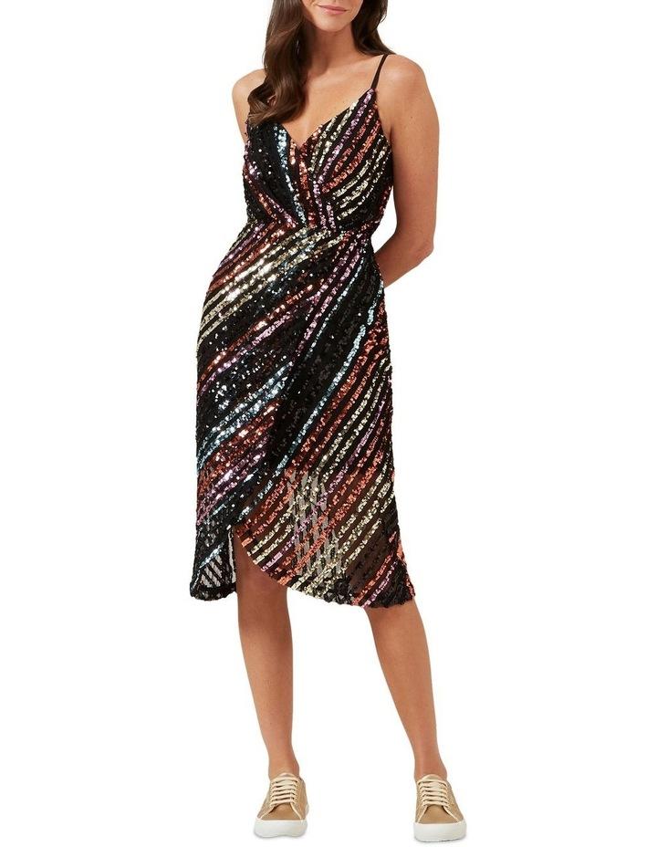 Sequin Mock Wrap Dress image 1