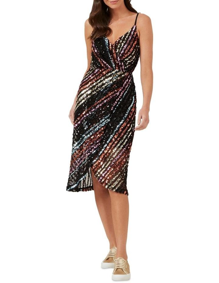 Sequin Mock Wrap Dress image 2