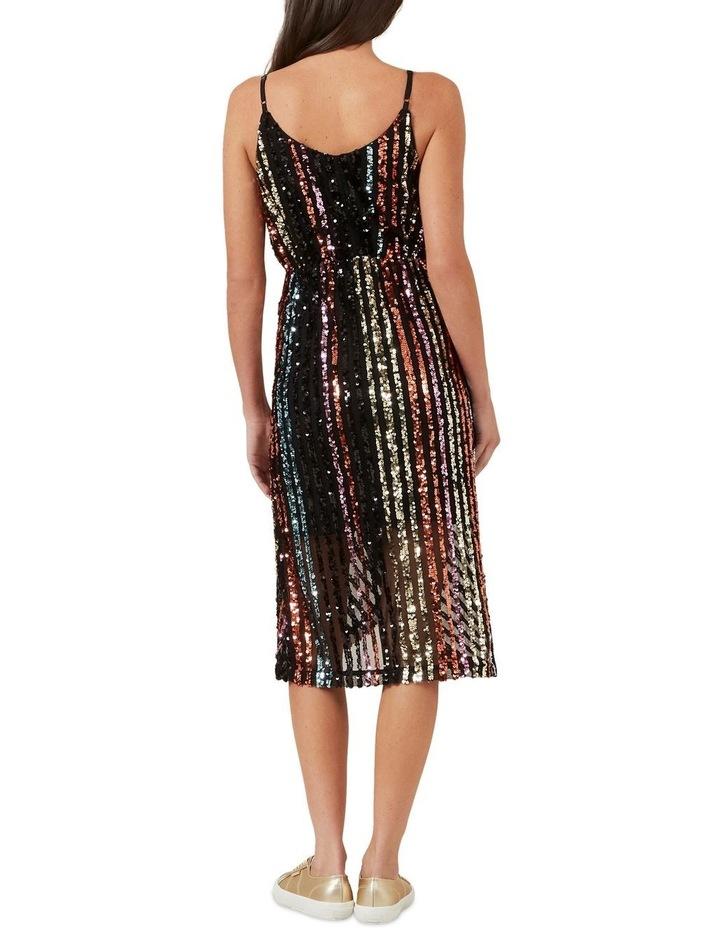 Sequin Mock Wrap Dress image 3