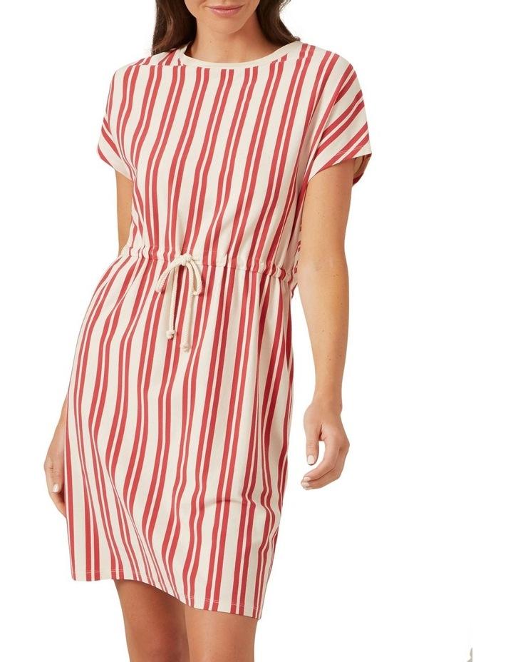Stripe Tie Up Jersey Dress image 1