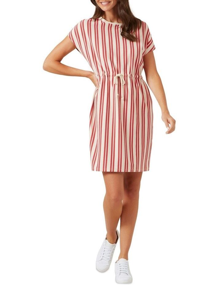 Stripe Tie Up Jersey Dress image 2