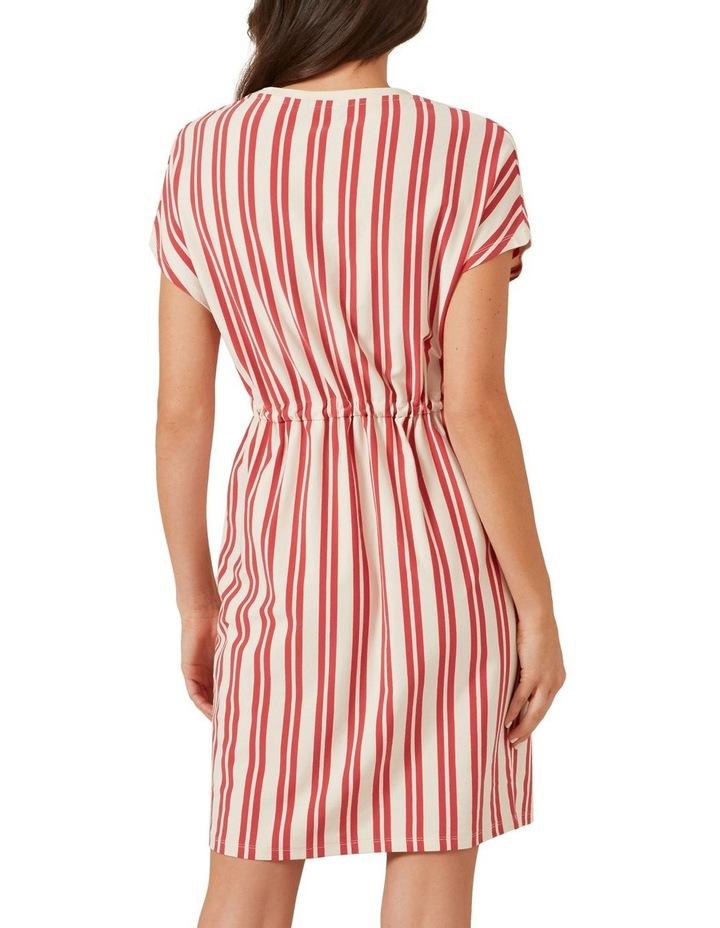 Stripe Tie Up Jersey Dress image 3