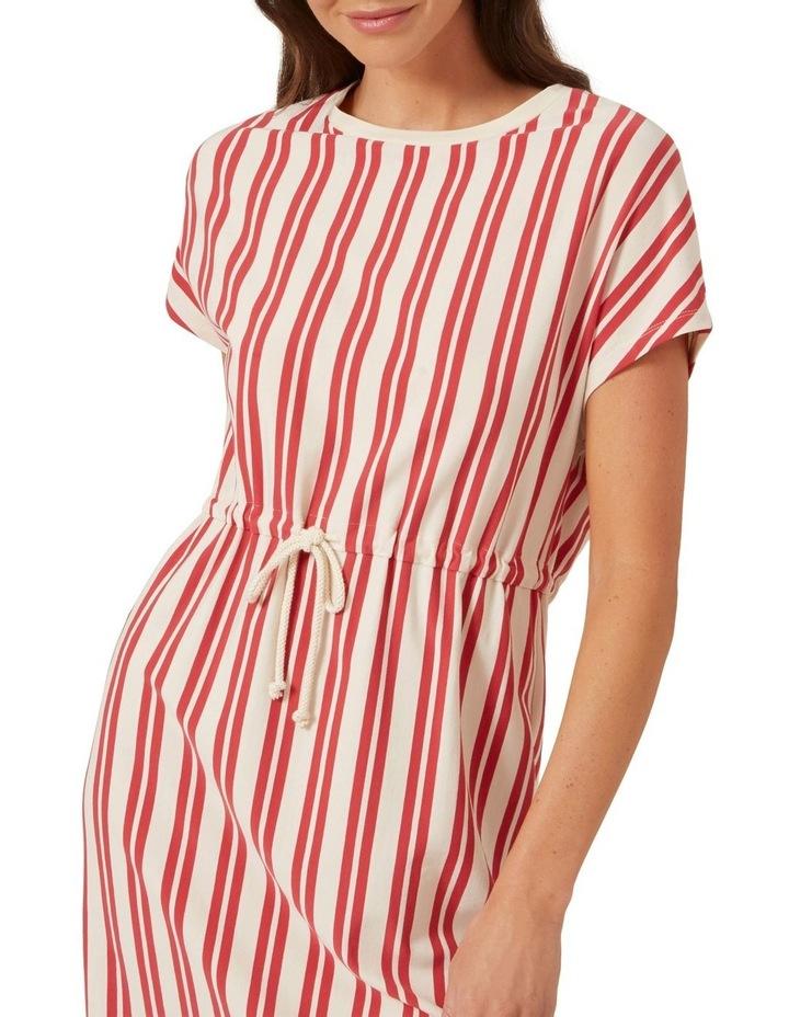 Stripe Tie Up Jersey Dress image 4