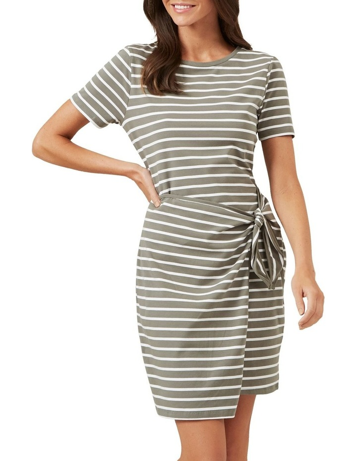 Jersey Stripe Wrap Dress image 1