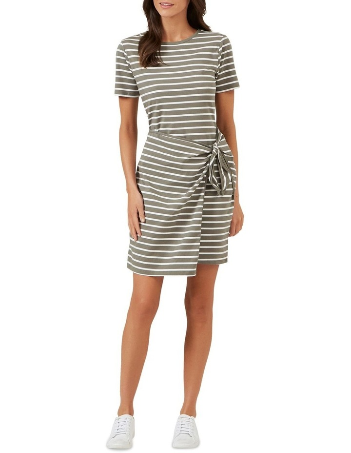 Jersey Stripe Wrap Dress image 2