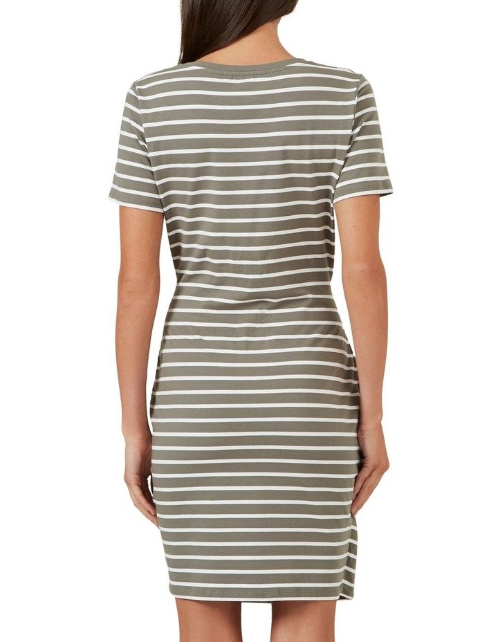Jersey Stripe Wrap Dress image 3