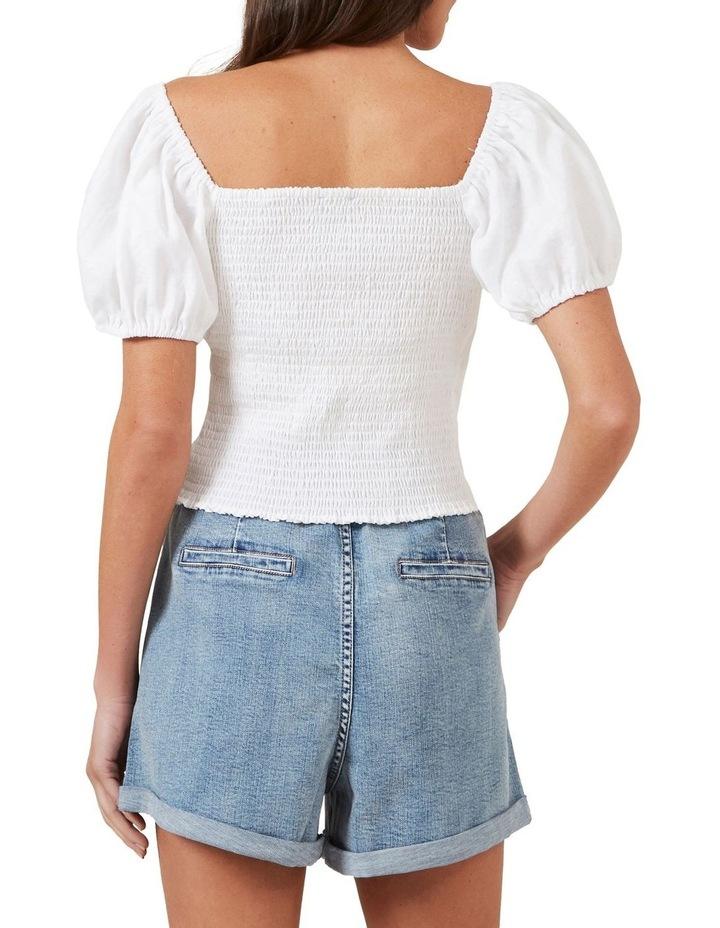 Puff Sleeve Linen Blouse image 3