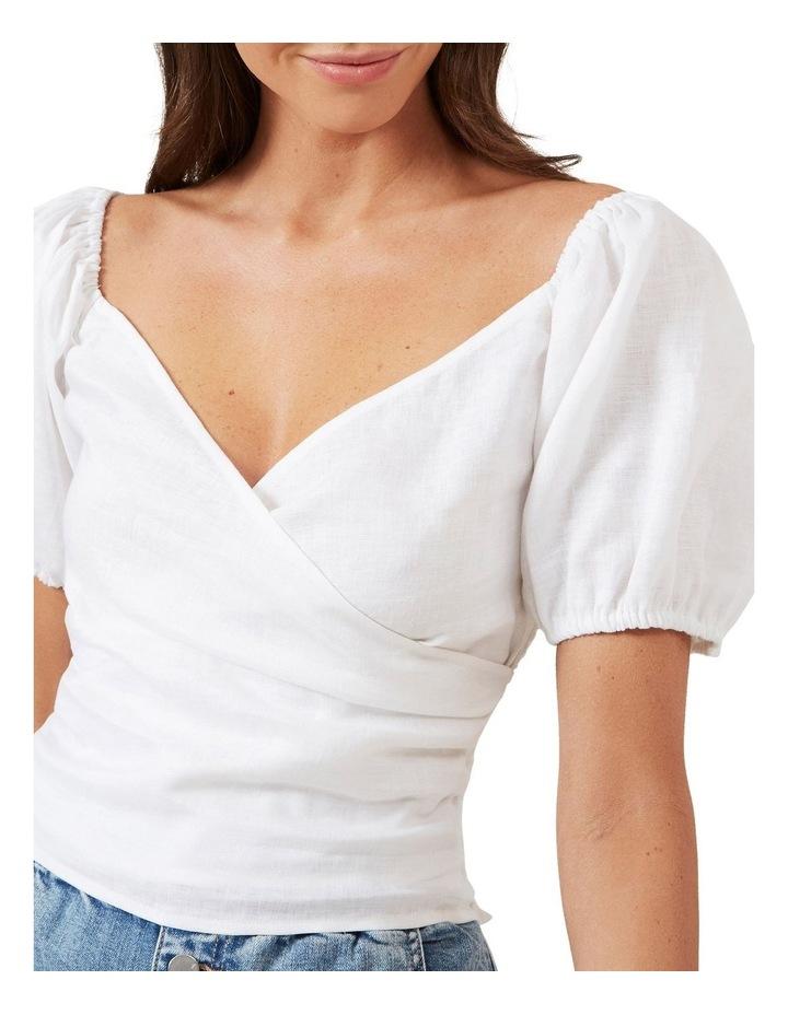 Puff Sleeve Linen Blouse image 4
