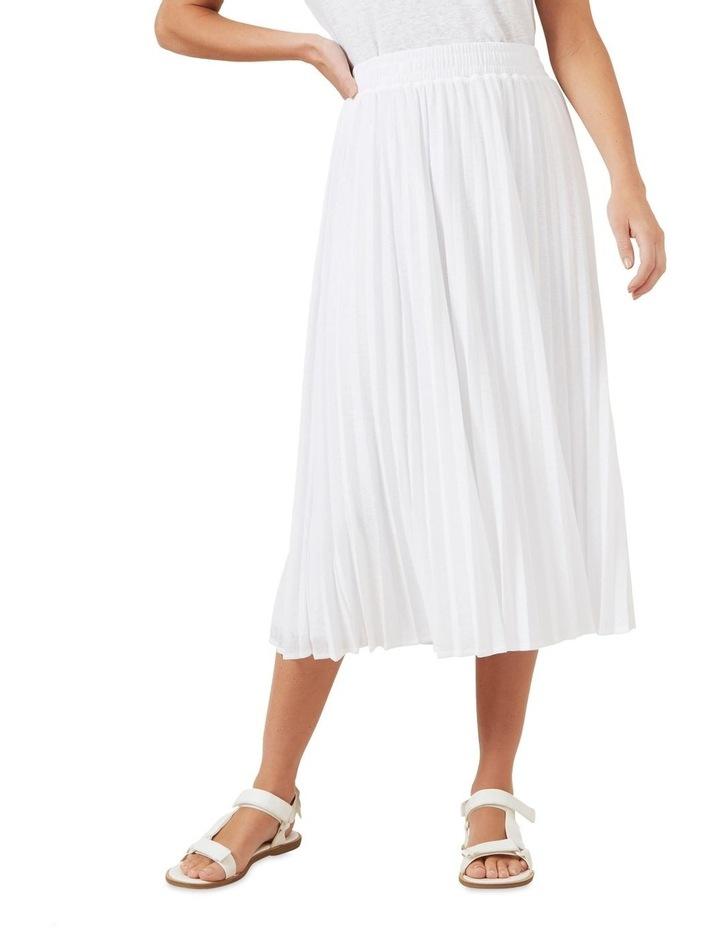Pleated Textured Skirt image 1