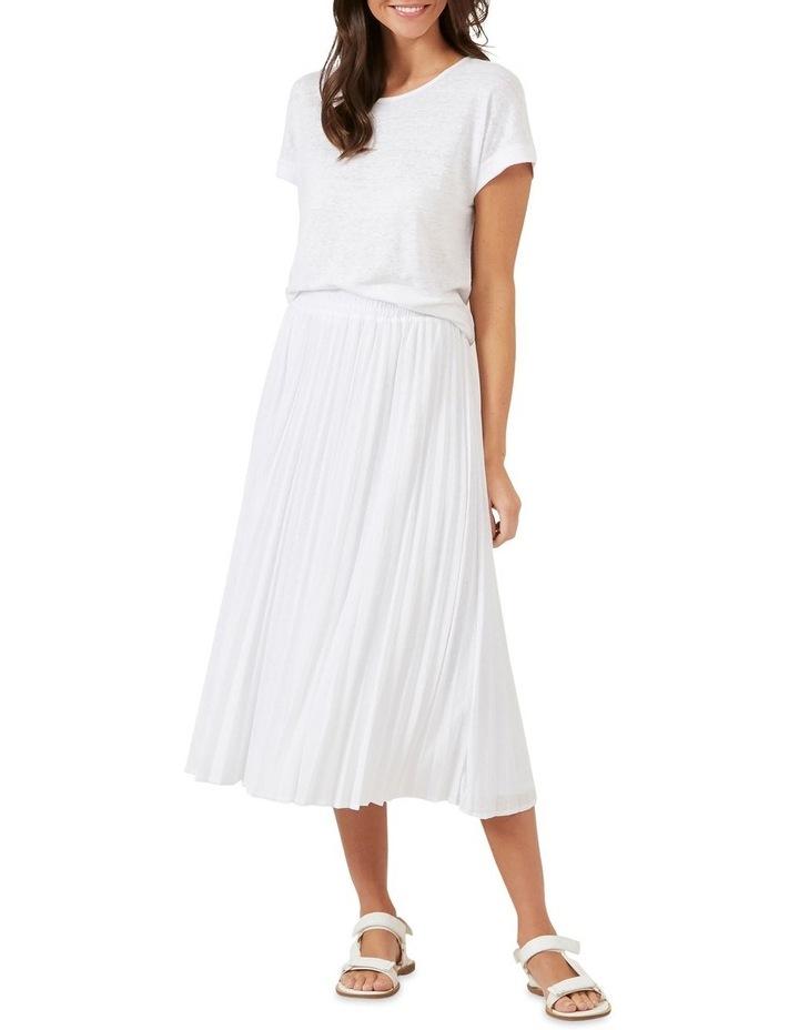 Pleated Textured Skirt image 2