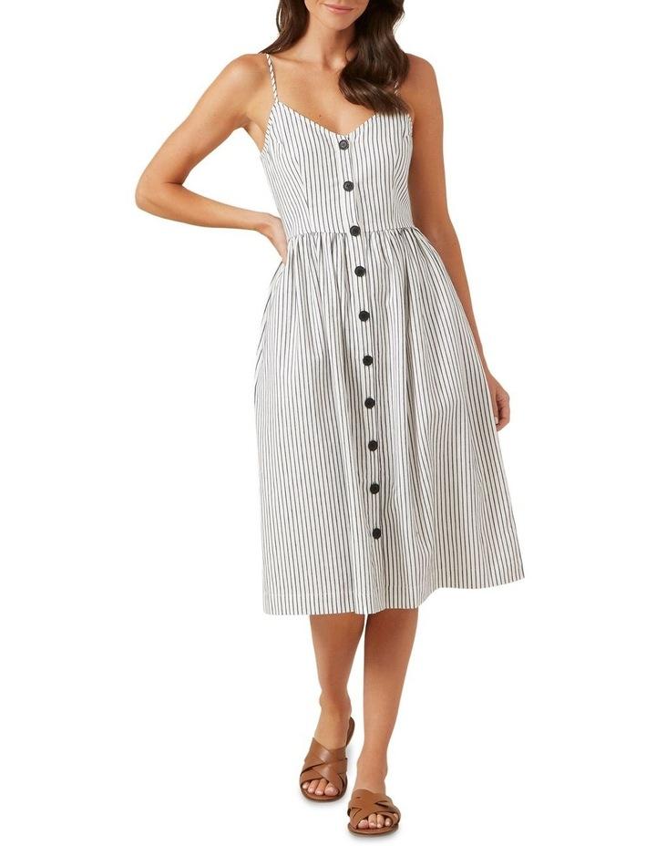 Button Down Stripe Midi Dress image 1